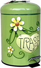 ZXHDND Household Bathroom Trash Can, Covered With Pedals, Cute Thick Double Trash Can (Color : Green)