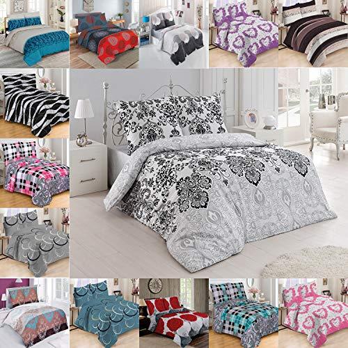 Buymax Ropa de cama edredón de cama–Juego 2–3piezas de cama (con cremallera de algodón 100% Oeko-Tex , 100 % algodón, 5, 200 x 220 cm
