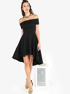 Noir Off Shoulder Skater Dress