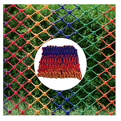 Lowest Prices! Protective net Kindergarten Decoration Net Color Braided Rope Net Child Safety Net Protection Net Outdoor Climbing Net Garden Fence Net (Color: Mesh 8 cm – Thickness 6mm, 2x3m)
