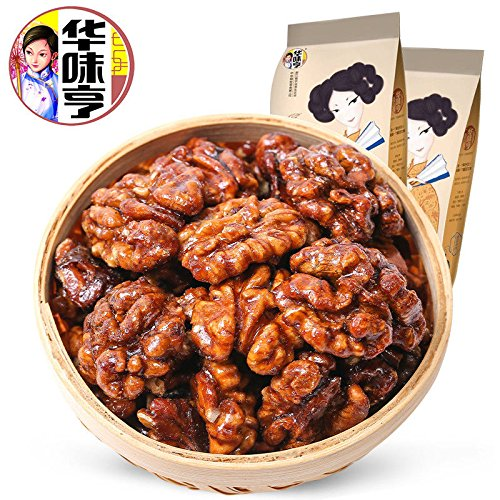 China food co. LTD. 华人小吃店(华味亨 琥珀核桃仁168gx2袋 Amber Sugar Coated Walnut Meat)Nuts核桃果仁 大核桃 堅果 蜜甜香醇 晶莹沁香