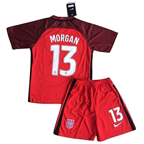 139fdef90 2017-2018 Alex Morgan  13 New USA National 3rd Jersey and Shorts for Kids
