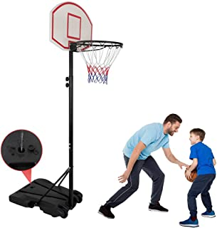 Nova Microdermabrasion Kids Portable Height Adjustable Basketball Hoop Stand, 28 Inch Backboard, Basketball Goals Indoor/O...