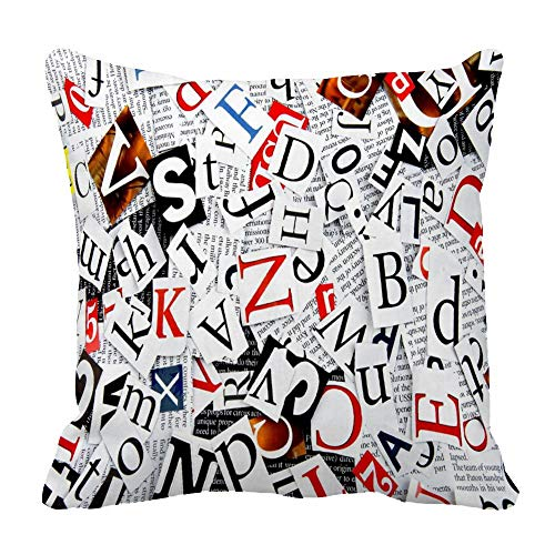 Funda de almohada para periódicos, algodón, Color 10, 23.6 x 23.6 inches
