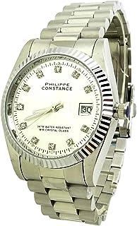 dddf9f58459ca Montre Homme de Luxe Bijoux Argent Dateur Philippe Constance Diamant Idée  Cadeau