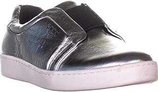 DKNY Womens Bobbi Leather Metallic Fashion Sneakers