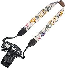 Elvam Universal Men and Women Camera Strap Belt Compatible for All DSLR Camera and SLR Camera - White Flower