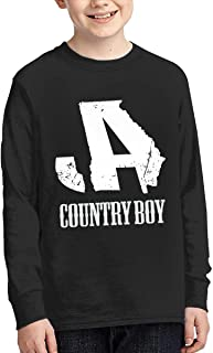 Jason Aldean Youth Long Sleeve T-Shirt Teenager for Girls Boys Fashion Classic Cotton Graphic Tee