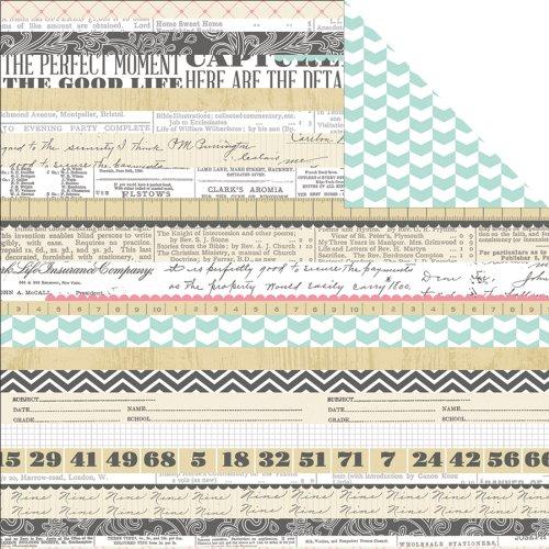 Famille des Histoires 12 x 12 Papier Motif Rayures Multicolore