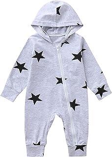 طفل رضيع بنات بنين نجوم طباعة مقنعين سستة السروال القصير ملابس الرضع الملابس حللا الملابس (Color : Blue, Size : 18-24 Months)