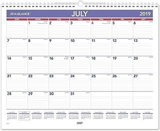 AT-A-GLANCE 2019-2020 Academic Year Wall Calendar, Medium Wide, 15