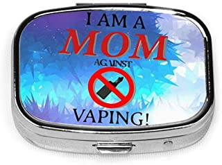 Soy una mamá contra Vaping Fashion Square Pill Box Vitamin Organizer Case