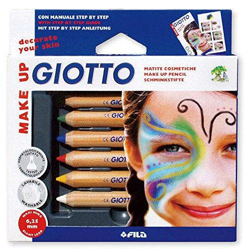 Giotto Pochette de 6 Crayons de Maquillage Enfant