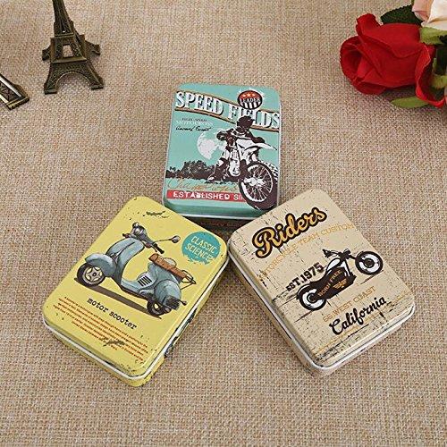 Generic 9: bunt Mini-Dose Metall Box geschlossenem Glas Verpackung Boxen Schmuck, Candy Box Aufbewahrung kleiner Dosen Medaille Ohrringe Kopfhörer Geschenkbox