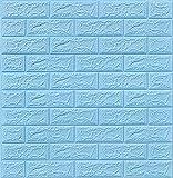 Papel De Pared De Ladrillo Tridimensional 3d Pegatina De La Pared De La Espuma De Pe De 3 Mm Auto-adhesivo Anti-colisión Adecuado Para Sala De Estar, Dormitorio, Oficina En Casa (Color:Azul claro)