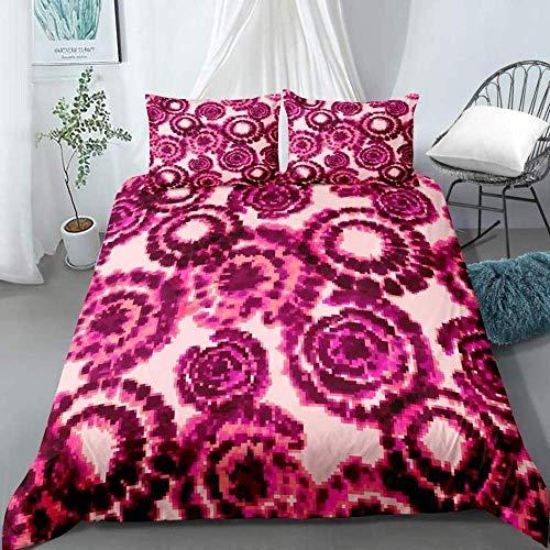 JXSMYT Juego de ropa de cama, 2/3 piezas, funda nórdica de colores, sin relleno, negro y blanco (R5,200 x 200 cm + 2 x 50 x 75 cm)
