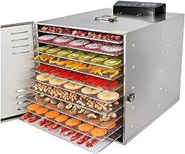 Máquina de conservación de alimentos para el hogar Deshidratador de alimentos, pantalla táctil digital inteligente, silencio, temperatura de sincronización ajustable con una bandeja de acero inoxidabl