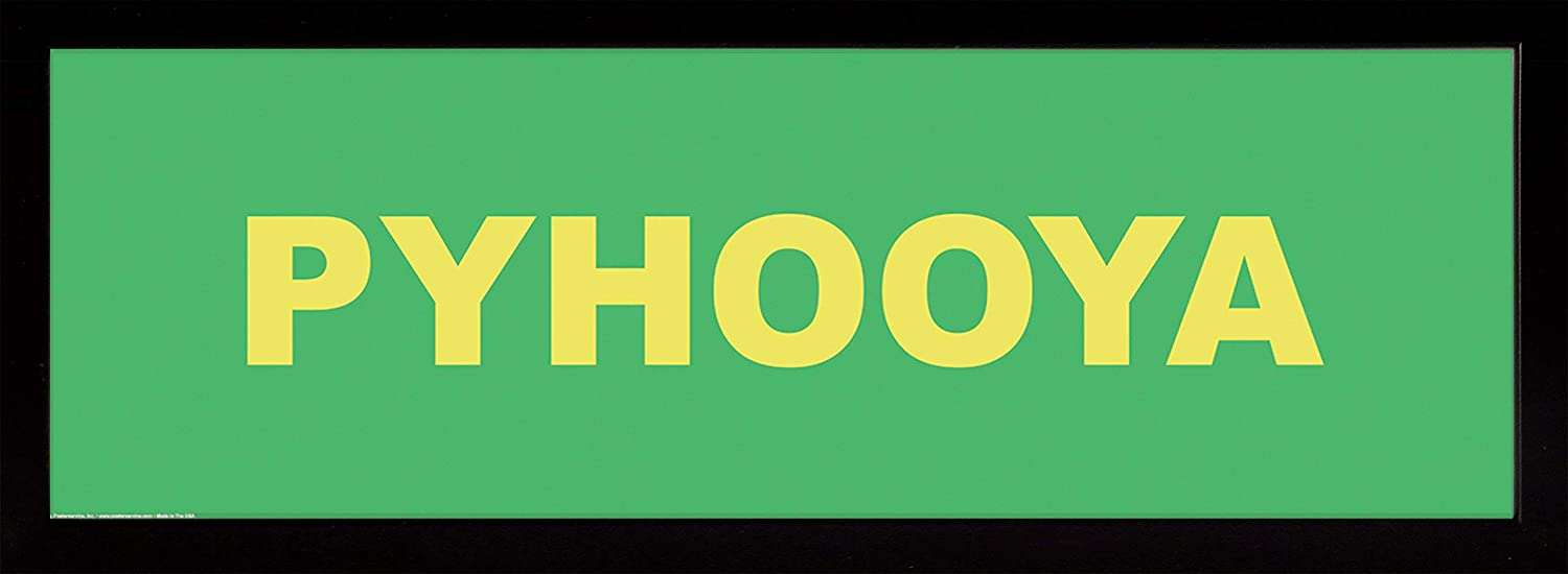 Frame USA Classic PYHOOYA Poster Affordable Medium Opening large release sale Black 12x36
