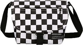 LABANCA Vintage Small Canvas Crossbody Should Bag Fashion Checkerboard Street Bag for Men Women