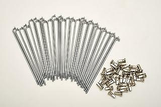 Set mit 40 Speichen und Nippeln Durchmesser 3,0 mm Länge 120 mm Biegung 90°