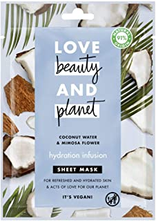 Love Beauty and Planet Sheet Mask Hydration Infusion Coconut Water & Mimosa Flower, 1pc