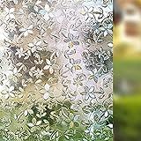 LMKJ Película de Ventana de Cerezo 3D Pegatinas electrostáticas Pegatinas de Vidrio Mesa esmerilada Pegatinas de Cristal de privacidad Autoadhesivas