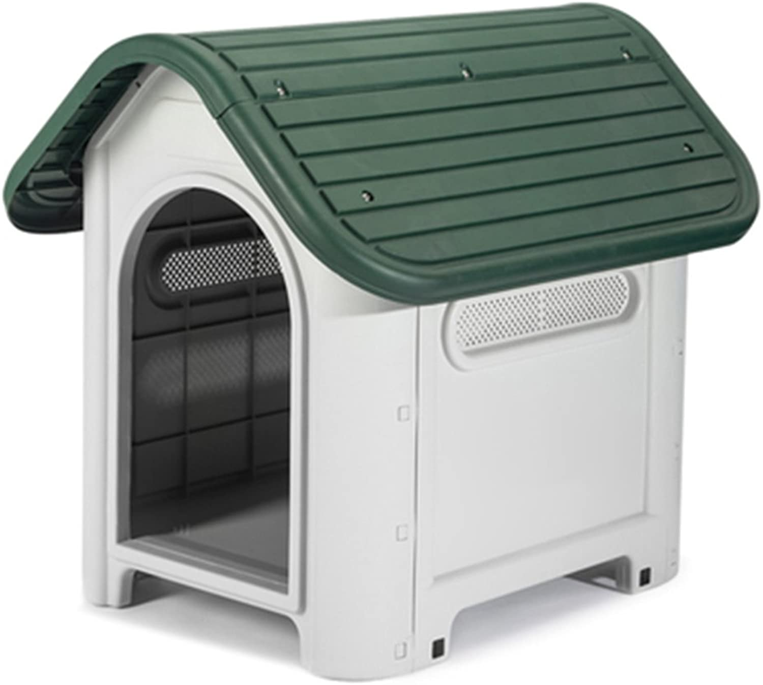 MIAOLIDP Pet dog house Teddy dog bed small dog kennel indoor plastic outdoor washable dog cat litter dog pad Pet supplies (color   Green)