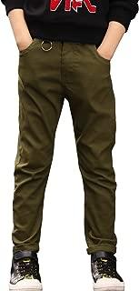 Boys' Elastic Waistband Slim Fit Jogging School Pants for Kids Size 4-16