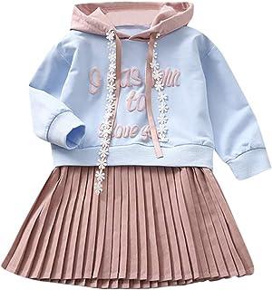 K-youth Ropa Niña, Letra Vestido De Bebé Niña Sudadera con Capucha Princesa Vestido De Niñas para Fiesta Infantil Trajes d...
