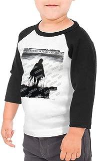 Neil Young Harvest Moon Kids 3/4 Sleeve Raglan Baseball T Shirt for Girls & Boys Black