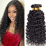 Brazilian Water Wave Bundles Human Hair (20 22 24 Inch) 10A Virgin Water Wave 3 Bundles Wet and Wavy 100% Unprocessed Remy Curly Bundles Human Hair Weave (20 22 24)
