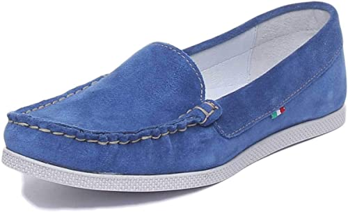 Justin Reece England Nita Chaussures en Daim pour Femme Bleu