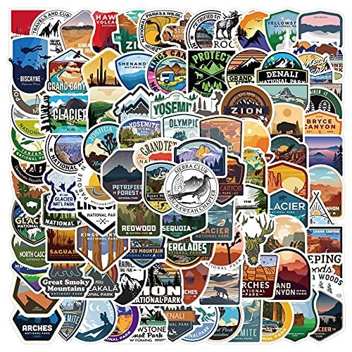 WWLL 100 adesivi National Geographic per valigie, valigie, laptop e custodie per cellulari