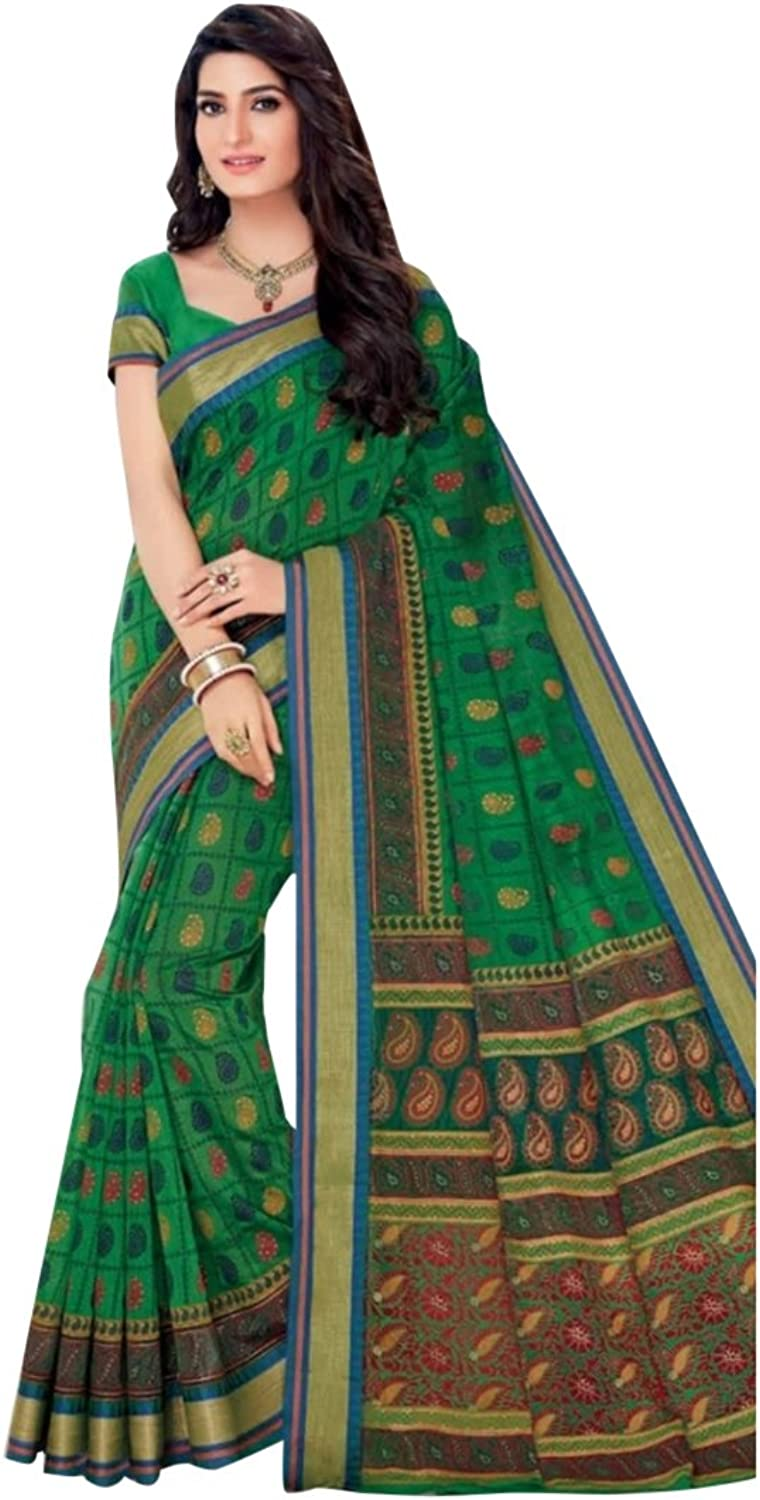Designer Bollywood Cotton Saree Sari for Women Latest Indian Ethnic Collection Blouse Formal Wear Ceremony 2601 8