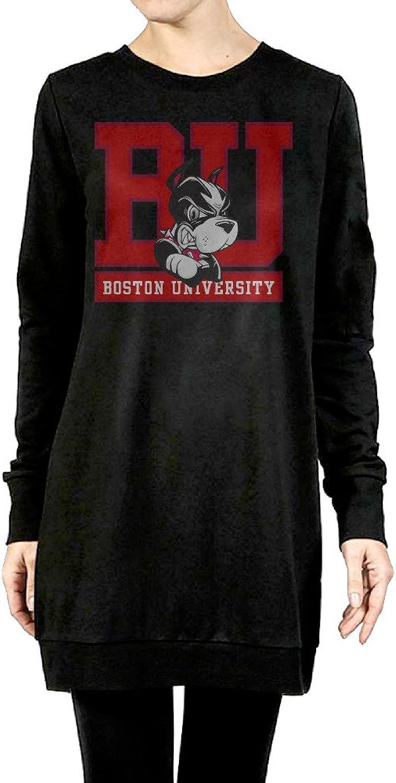 Boston University Terriers Women's Long Hoodies Black