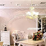 Discount4product Ark Shape Crystal Bead Curtain 20 String for partition Spaces Wedding Decoration Home Decoration