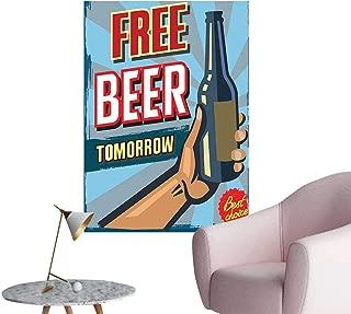 Vinyl Artwork Arm Holding Bottle Free Beer Beverage Pub fer Sale Fun Murky Easy to Peel Easy to Stick,12