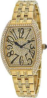 Christian Van Sant Women's Elegant Sparkle Quartz Stainless Steel Strap, Gold, 16 Casual Watch (Model: CV0261)