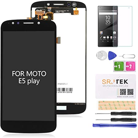 """for Moto E5 Play Screen Replacement-LCD Digitizer Touch Glass Assembly Fit Motorola Moto E5 Play XT1921-1 XT1921-2 XT1921-3 XT1921-5 XT1921-6 XT1921-7 / Moto E5 Cruise 5.2"""" Black"""