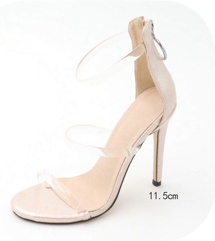 Longing-summer Wedding shoes Women Sandals Thin High Heel Peep Toe Zipper Pu Leather Women shoes Sexy Ladies