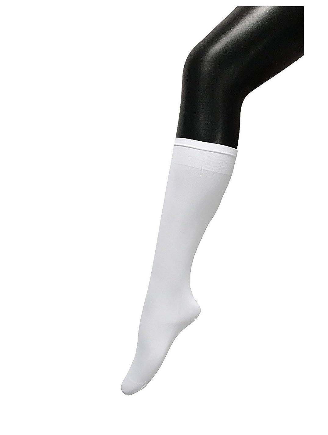 ステージ病透けるCOSCO ストッキング ソックス ニーソックス 膝下タイプ 着圧 美脚 40CM