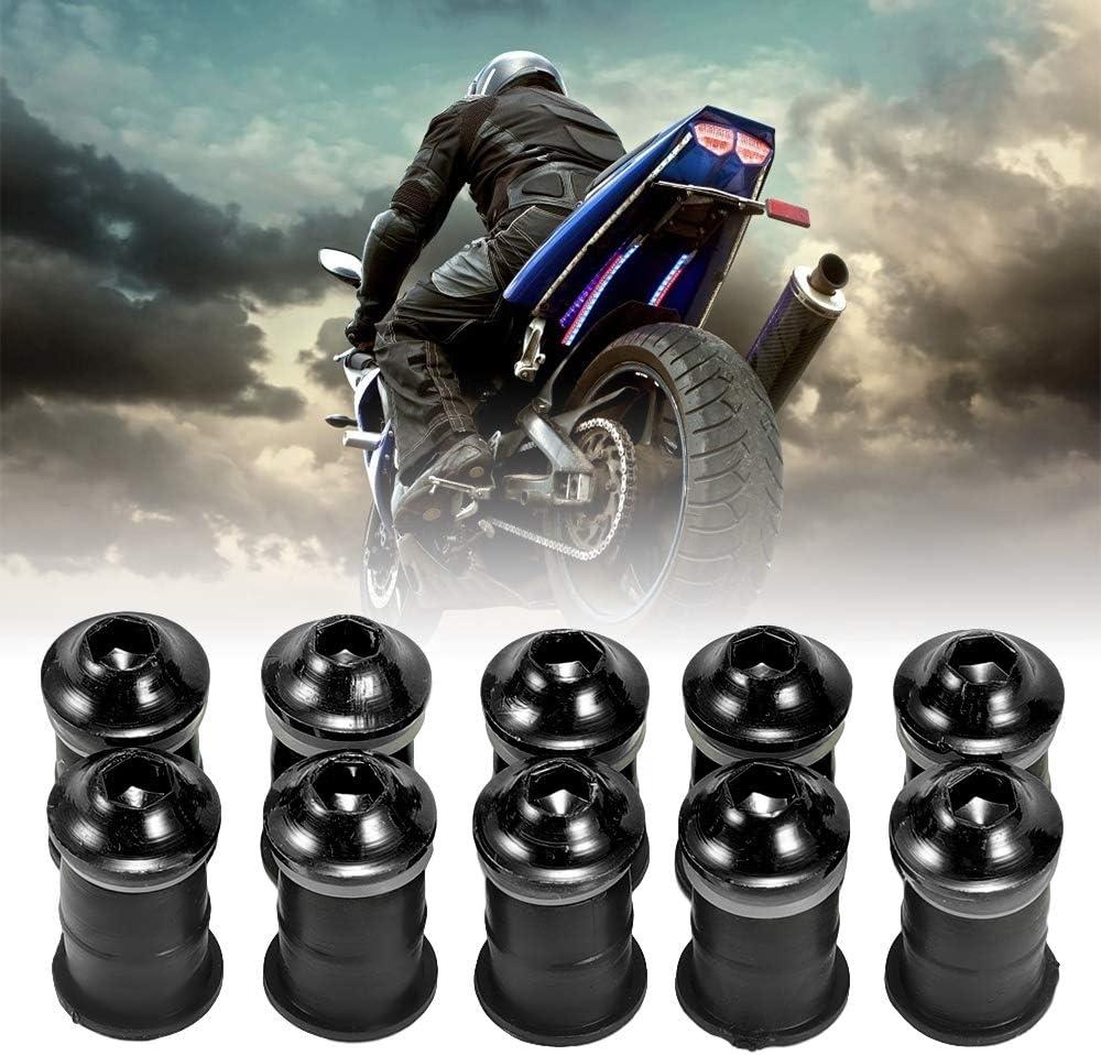 pour pare-brise Lot de 10 fixations de pare-brise de moto en aluminium multicolore noir /écrous et boulons de pare-brise pour moto durable et durable /écrous