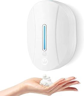 Czemo Dispenser Automatico di Sapone con Sensore Infrarossi, 550ML Dispenser Gel Disinfettante Mani a Parete Dosatore Sapo...