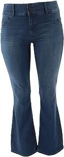 Laurie Felt Curve Silky Denim Boot-Cut Jeans A346629