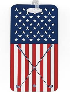 Golf Luggage & Bag Tag | USA Golfer | Custom Info on Back | LARGE