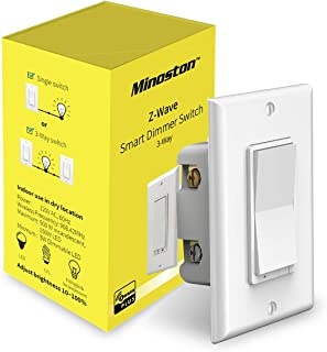 Z-Wave Plus Dimmer Switch In Wall Light Switch Support 3-Way Installation Works With Smartthings, Wink, Signal Repeater, Zwave Hub Required, White(MS11Z)
