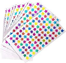 VICASKY 960Pcs Multicolor Estrela Glitter Estrela Auto Adesivo Estrela para Crianças Estudantes Suprimentos Professores Re...