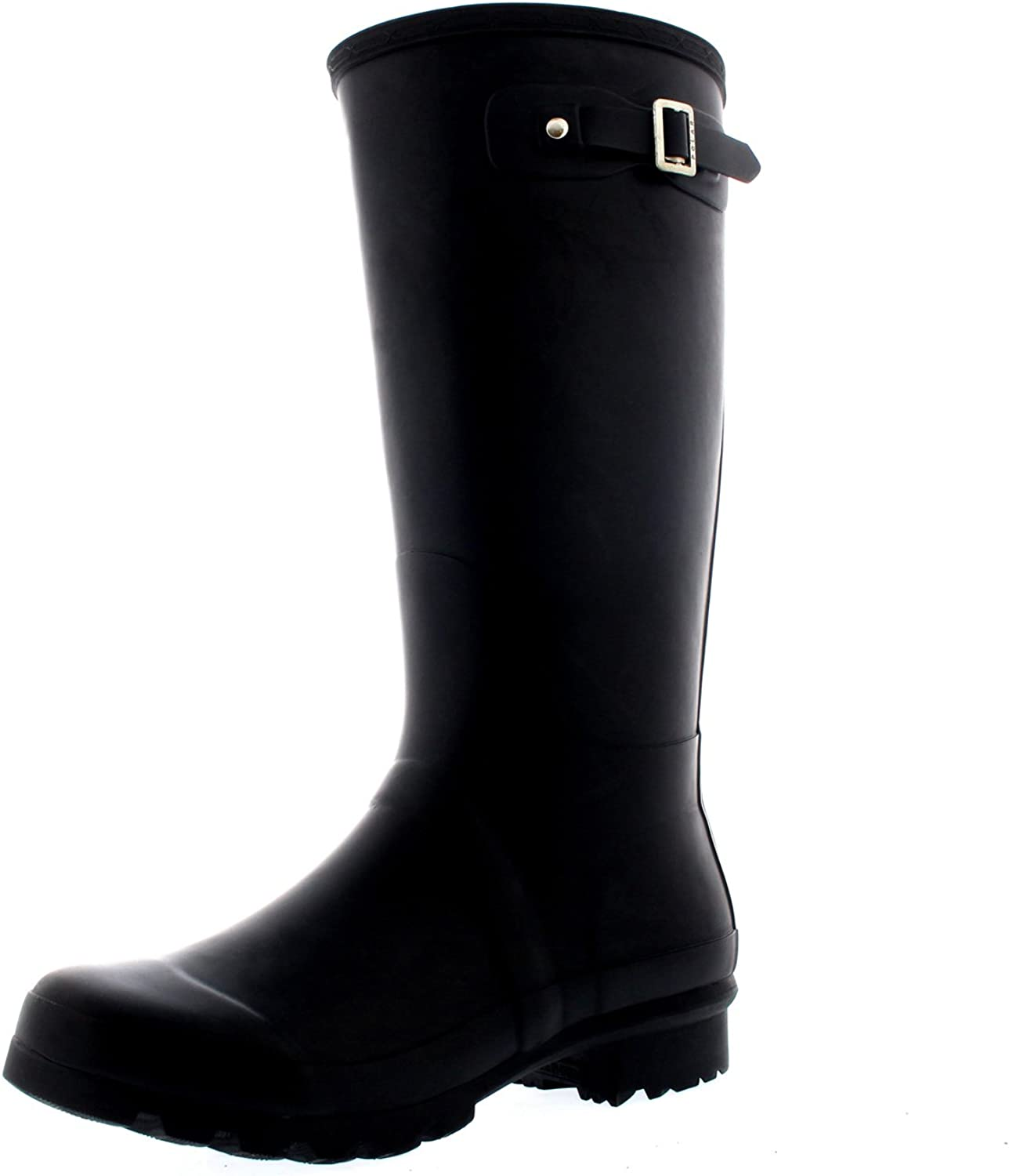 Polar Womens Tall Extra Wide Calf Wellington Galosh Muck Gardening Waterproof Rain Boots
