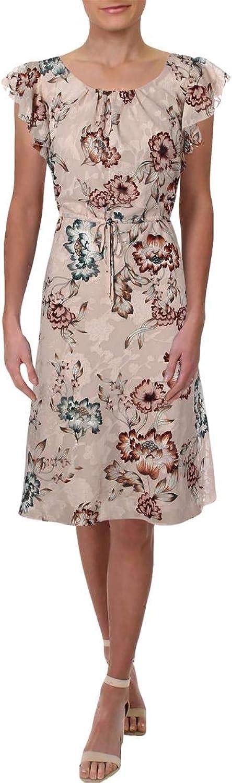 Lauren Ralph Lauren Womens Flutter Sleeve KneeLength Party Dress