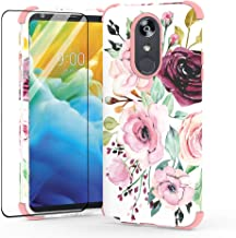for LG Stylo 4 Phone Case,LG Stylo 4 Plus Case,Tempered Glass Screen Protector Included, Hybrid Layer 3 in 1 Case for LG Stylo 4 (White)